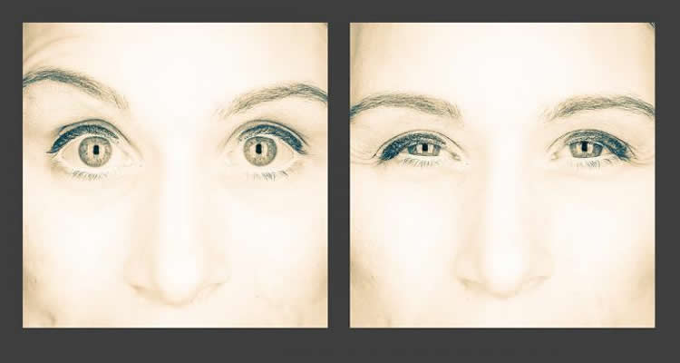 Image shows a woman's eyes.