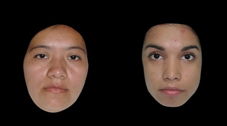 Image shows the faces of two women.