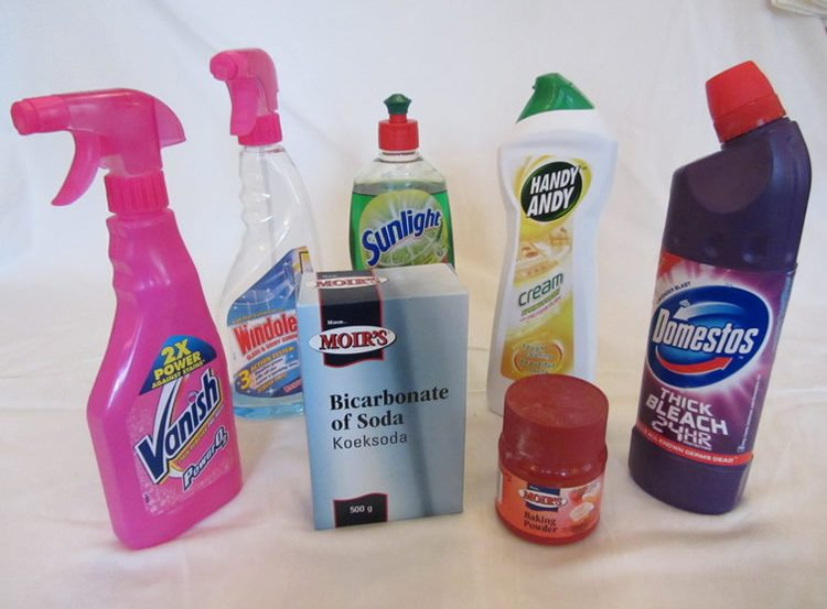 Image shows cleaning products.