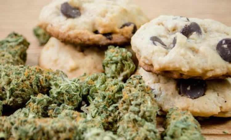 Image shows marijuana and cookies.