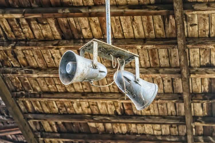 Image shows a loud speaker.
