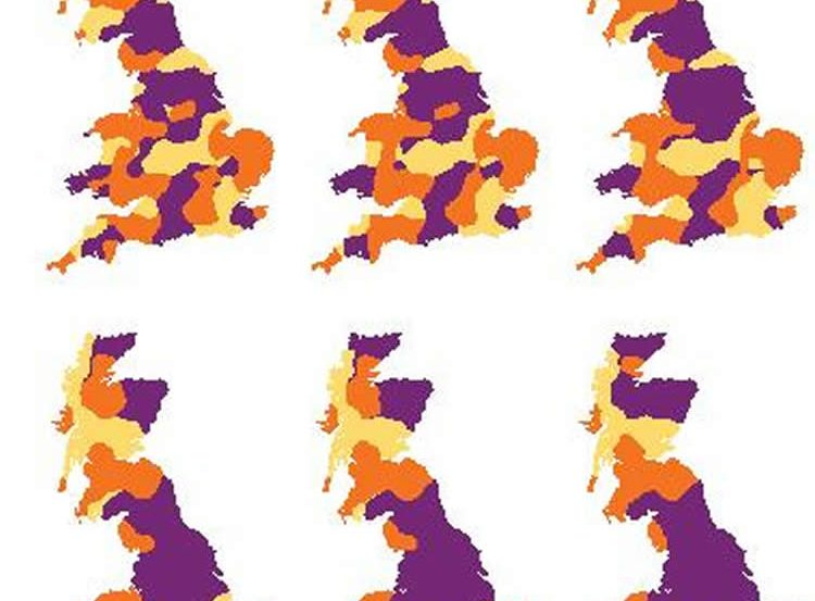 maps of the UK.