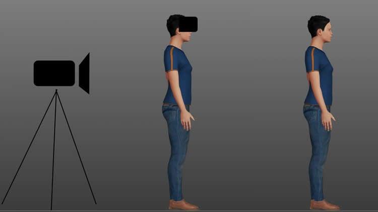 a person in VR.