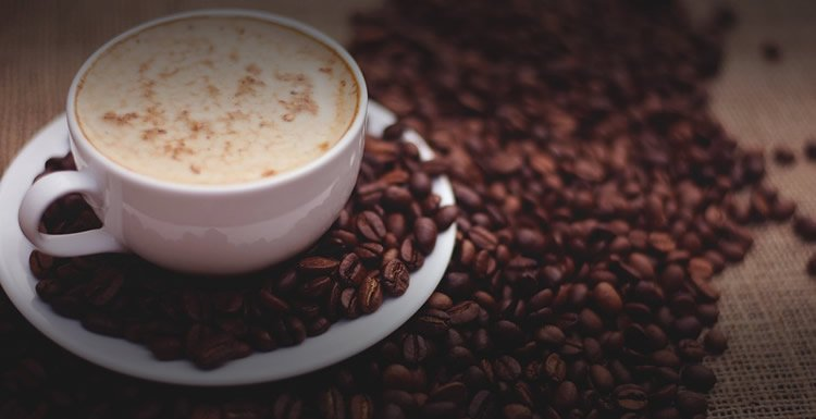 Image shows a cup of coffee.