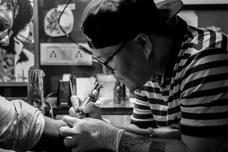 a tattoo artist