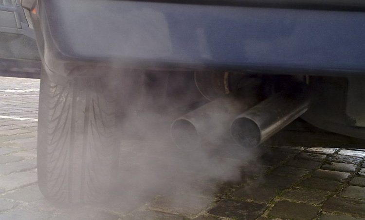 Image shows a car exhaust.