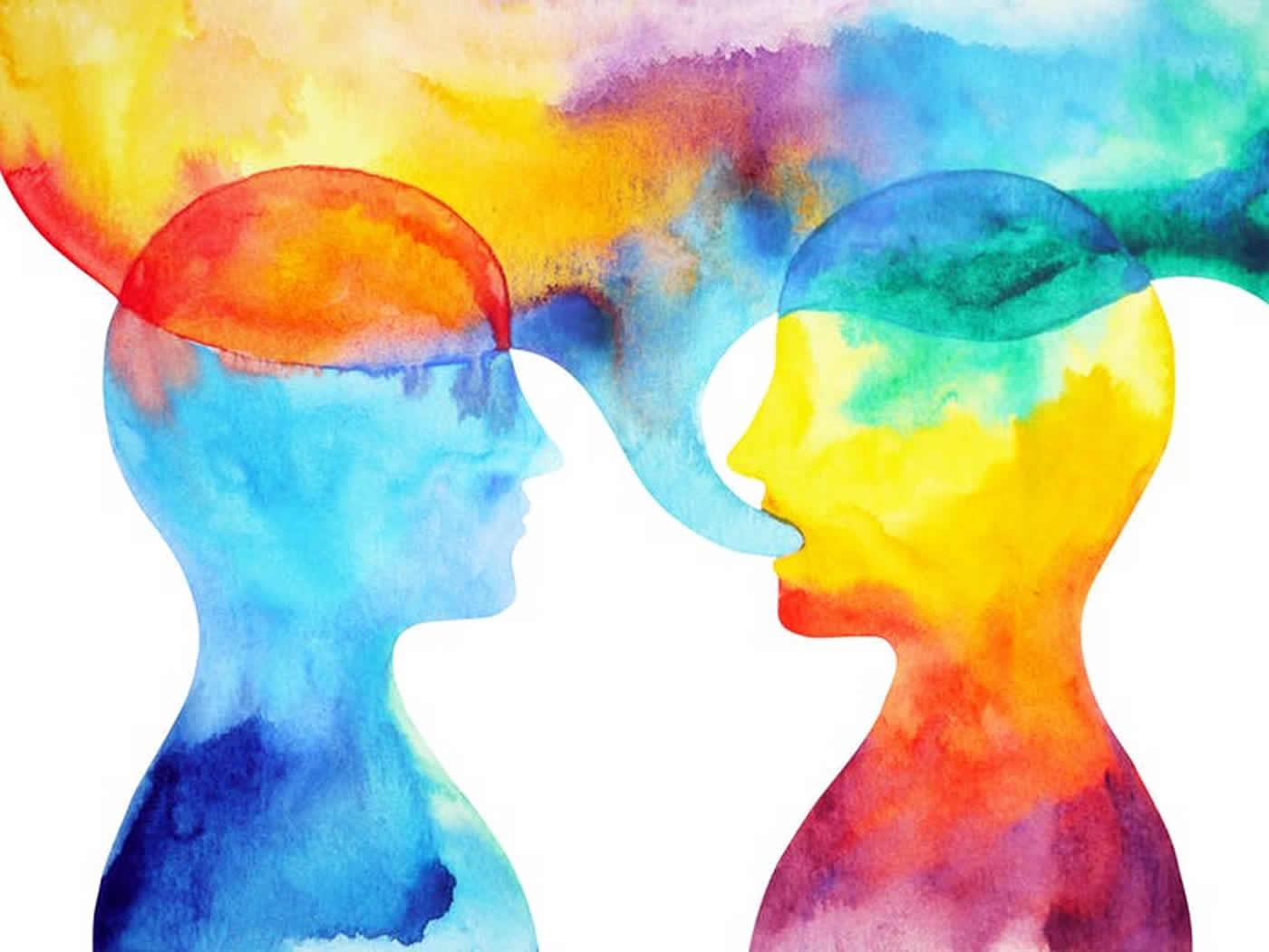 painting of people talking
