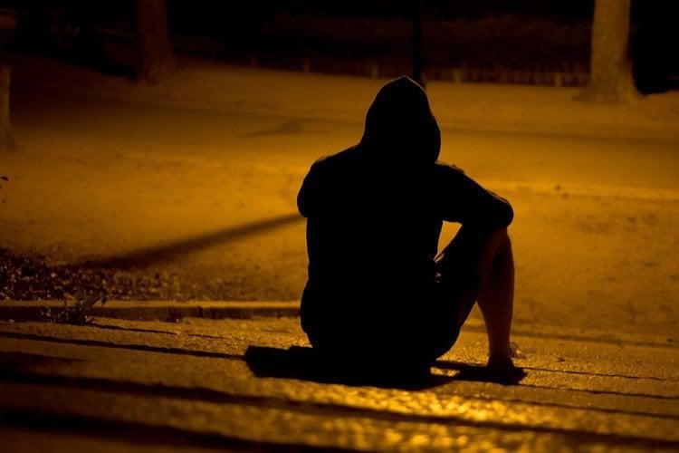 man on a street