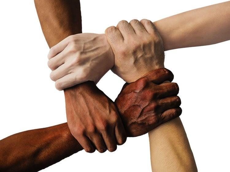 hands crossing