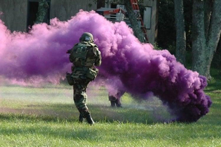 a smoke bomb