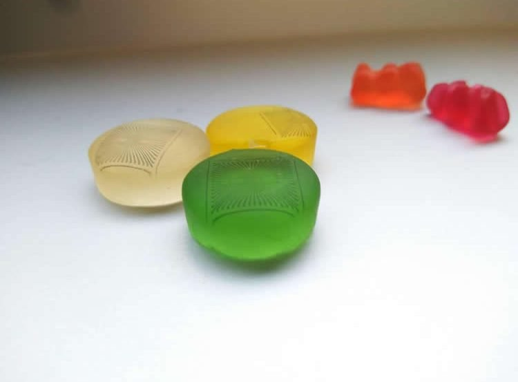 gummi candies with the MEAs printed on them
