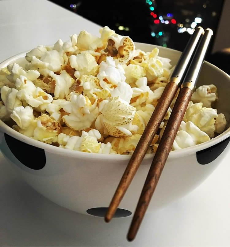 popcorn and chopsticks