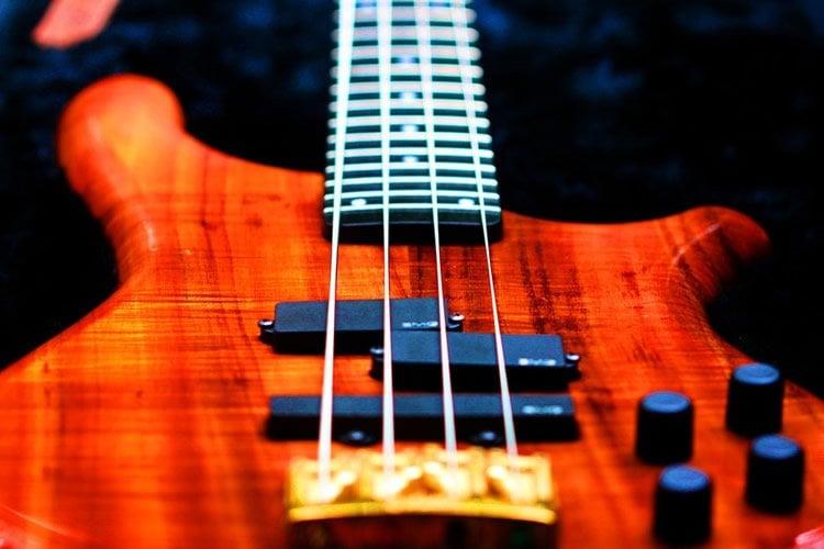 a bass guitar