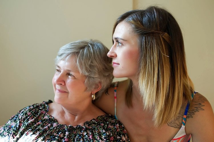 a woman and her mom