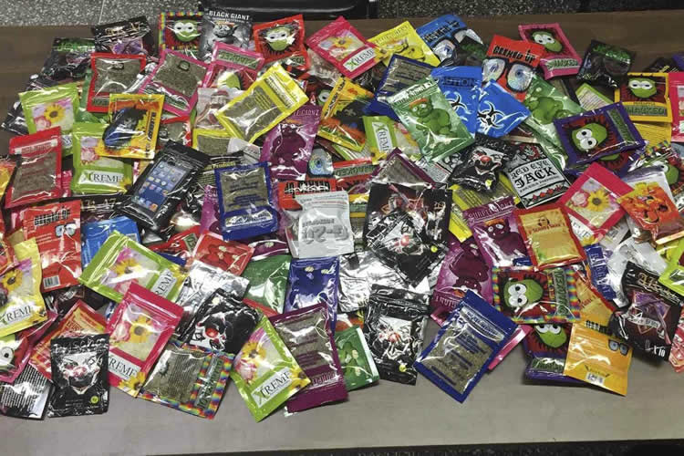 packets of synthetic marijuana seized by the NYPD.