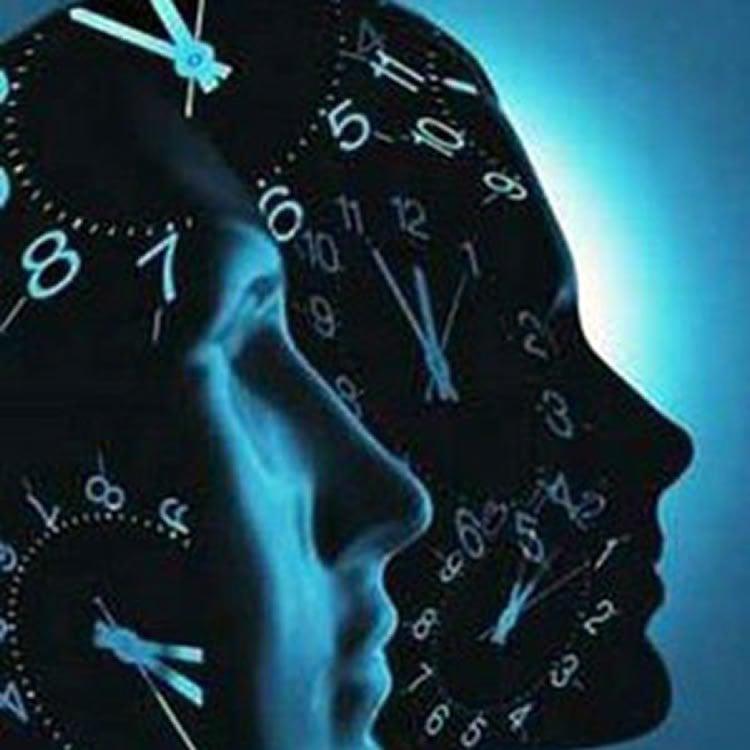 heads with clocks on them