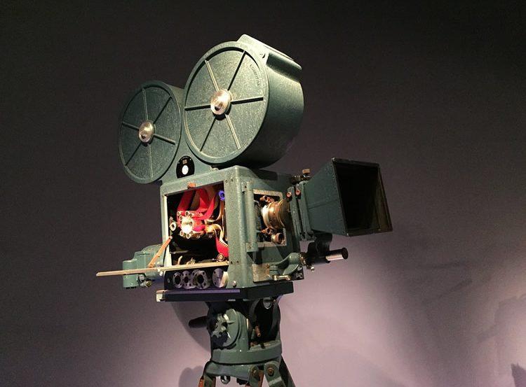 a movie camera