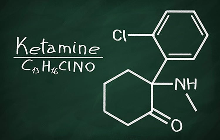 This is the chemical structure of ketamine