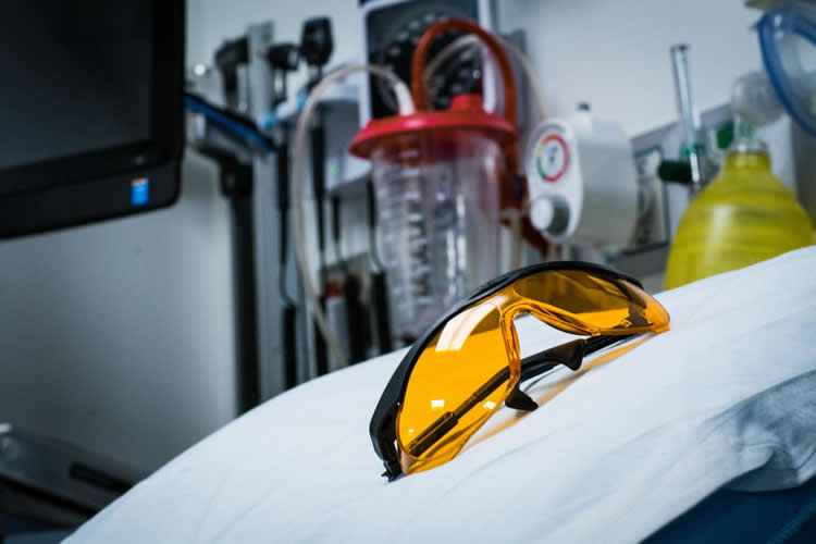 This image shows the orange tinged gaming glasses described in the news relesae