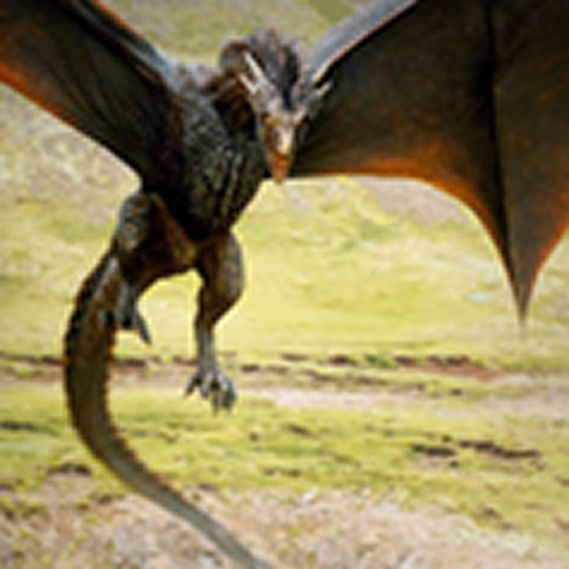 Drogon the dragon is shown here