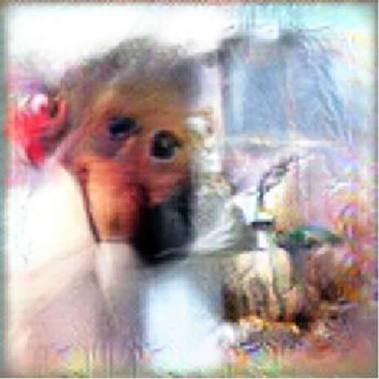 This image was generated by the AI and shows a monkey's face