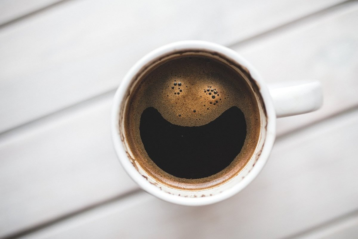 This shows a cup of coffee