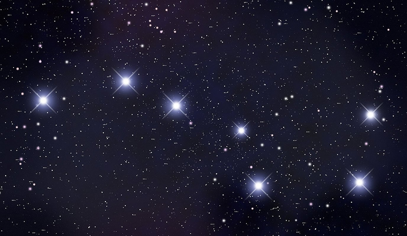 This shows stars in the sky