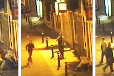 This shows the CCTV footage of public violence