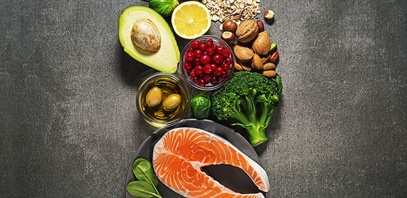 This shows the foods included in the mediterranean diet
