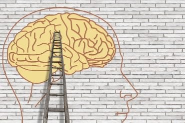 This shows a brain and a ladder