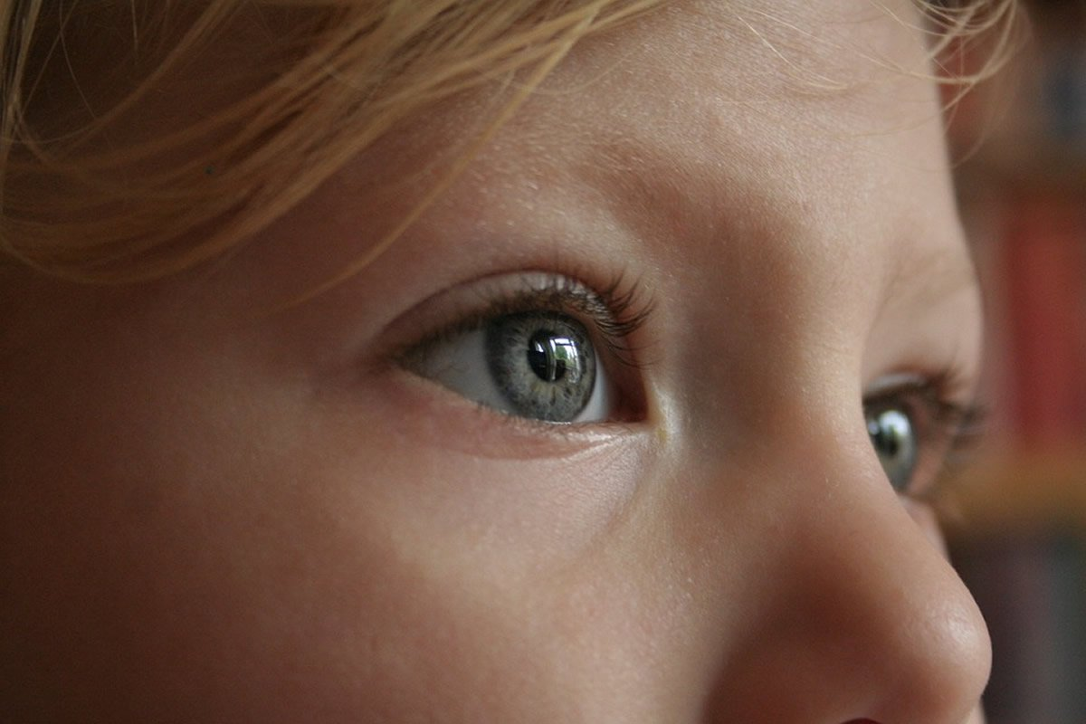 This shows a child's eyes