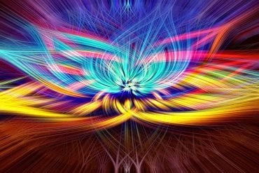 This shows a psychedelic lotus