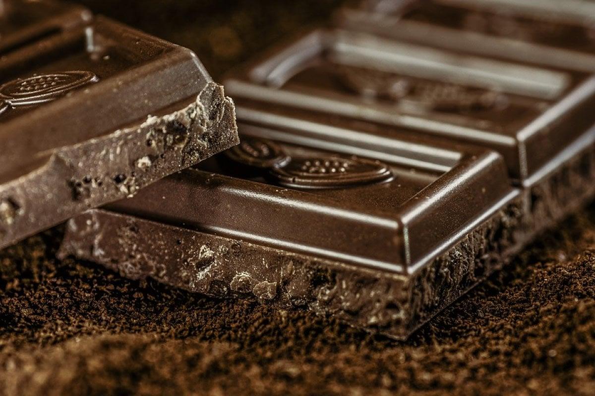 This shows dark chocolate