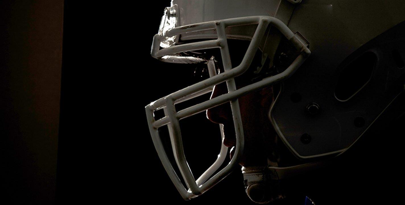 This shows a football helmet