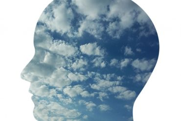 This shows a head made of clouds