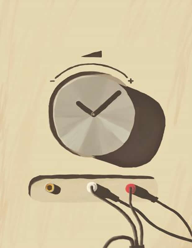 This shows a clock