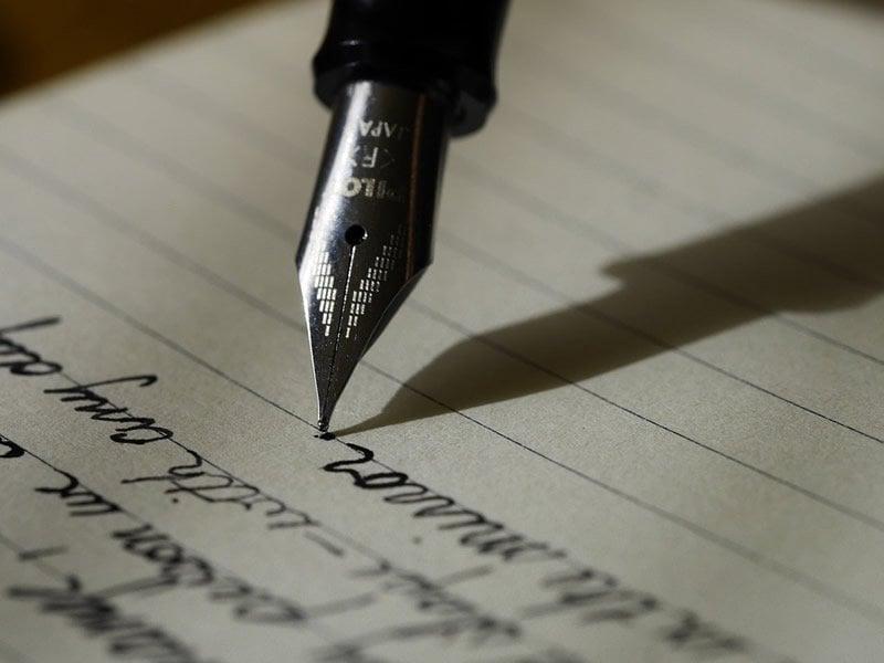 This shows a fountain pen