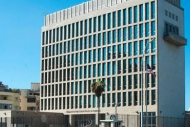 This shows the US embassy in Cuba