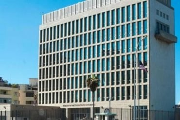 This is the US embassy in Havana
