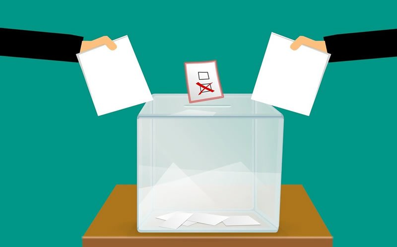 This shows a voting box