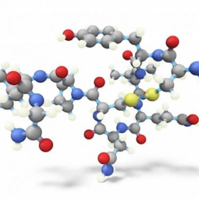 This shows the chemical structure of oxytocin