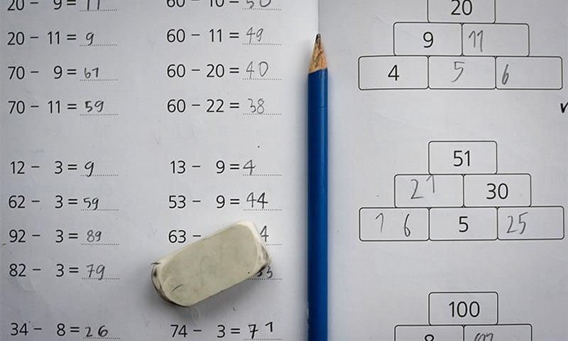 This shows math work