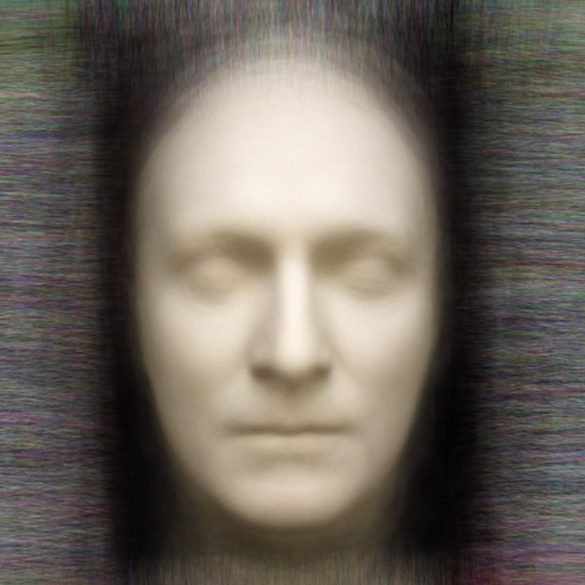 This shows a death mask