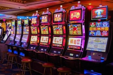 This shows slot machines