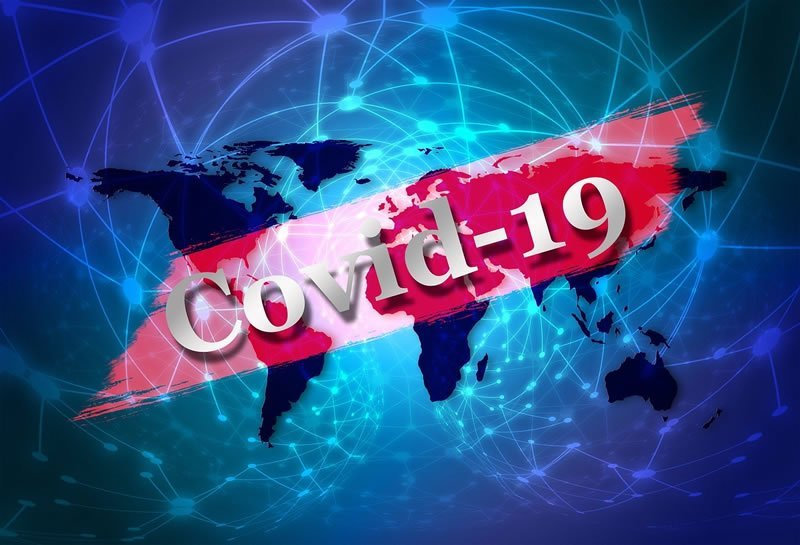 This shows the word COVID19