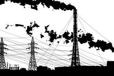 This shows a smokey skyline