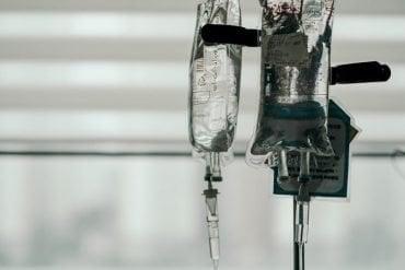 This shows an IV bag