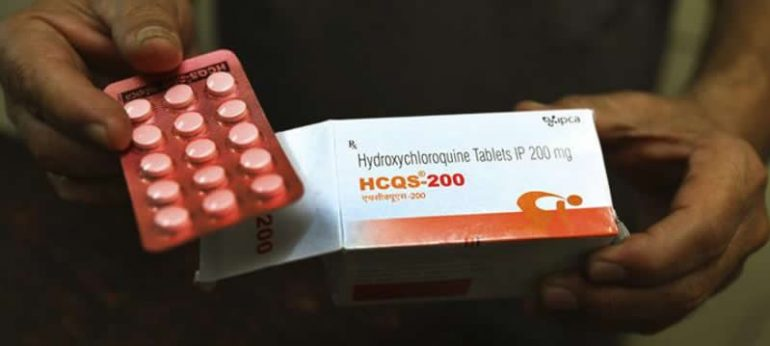 This shows hydroxychloroquine pills