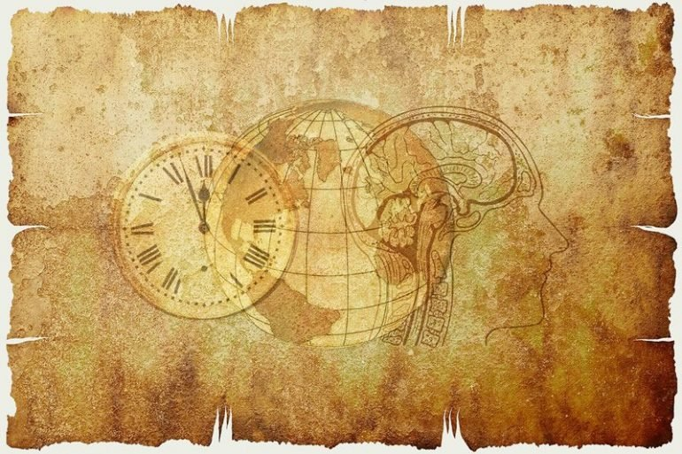 This shows a clock and a brain
