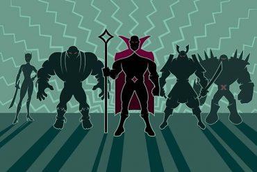 This shows cartoon villains